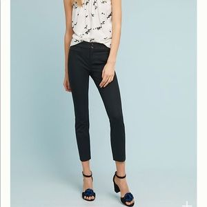 Anthropologie essential slim black trousers sz 8